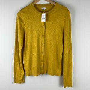 J. Crew Classic cotton cardigan sweater Medium